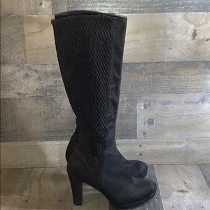 IMPO STRETCH OVERSTEP HEEL KNEE BOOTS BLACK size 8